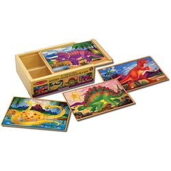 Melissa & Doug 4-pk. Dinosaur Puzzle Set