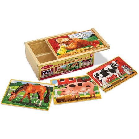 Melissa & Doug 4-pk. Farm Animal Puzzle Set