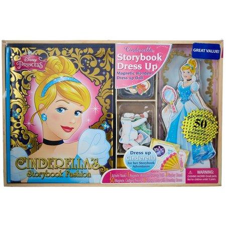 Disney Princess Storybook Dress Up Magnetic Wooden Doll