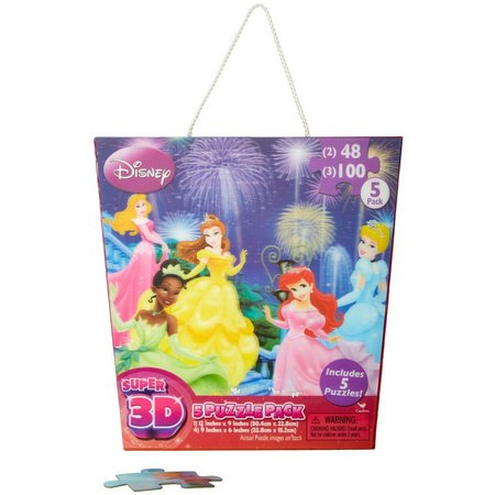 Disney Princess Super 3D 5 Puzzle Pack