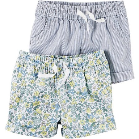 Carters Baby Girls 2-pk. Floral Shorts Set
