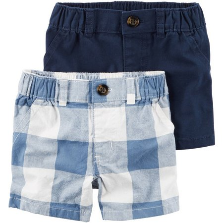 Carters Baby Boys 2-pk. Check Shorts Set