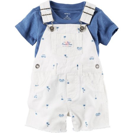 Carters Baby Boys Beach Bum Shortalls Set
