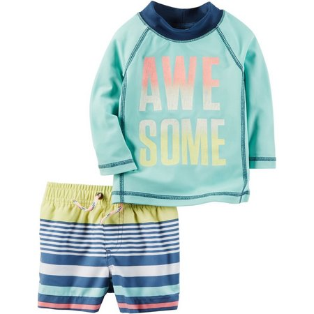 Carters Baby Boys Awesome Rashguard Swim Set