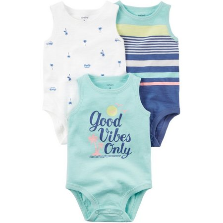 Carters Baby Boys 3-pk. Good Vibes Only Bodysuits