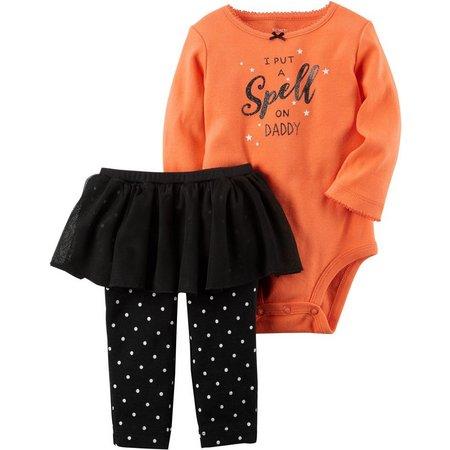 Carters Baby Girls Spell Tutu Bodysuit Set