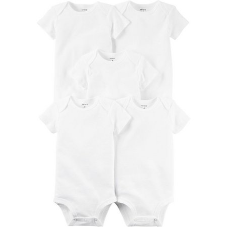 New! Carters Baby 5-pk. Original Solid Bodysuits