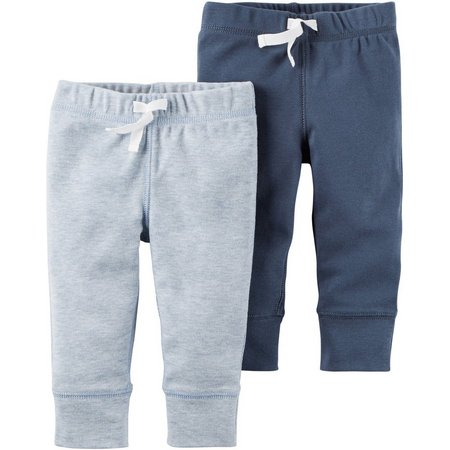 Carters Baby Boys 2-pk. Little Fella Pull-On Pants