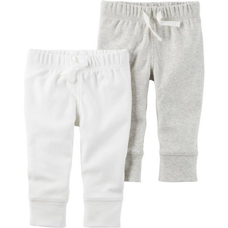New! Carters Baby Boys 2-pk. Drawstring Pull-On Pants