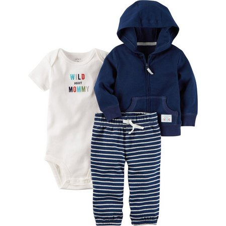 Carters Baby Boys 3-pc. Little Monster Jacket Set