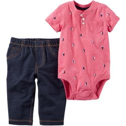 Carters Baby Boys Sailboat Pants Set