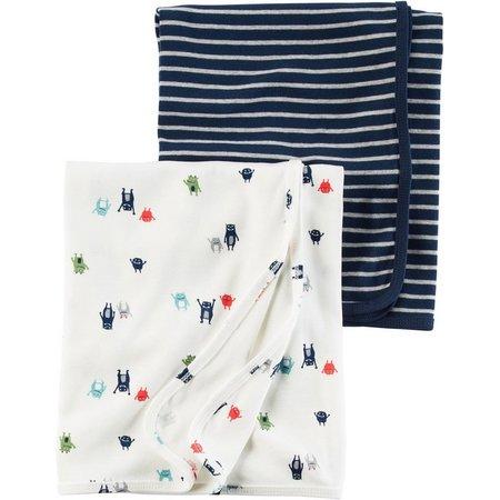 Carters Baby Boys 2-pk. Little Monster Blanket Set