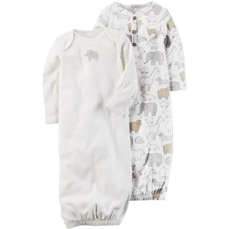 New! Carters Baby Boys 2-pk. Little Peanut Gowns