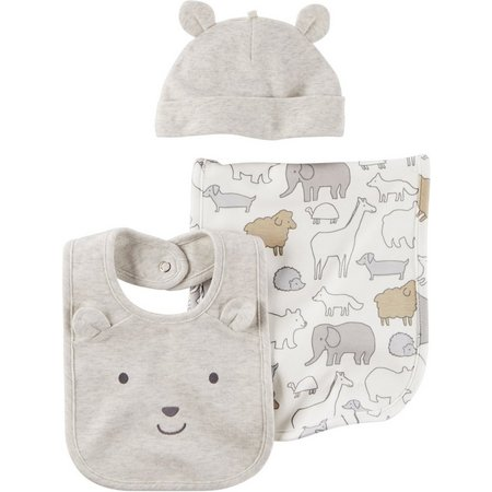 Carters Baby Boys 3-pc. Little Fella Bib Set
