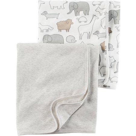 New! Carters Baby Boys 2-pk. Little Peanut Blanket