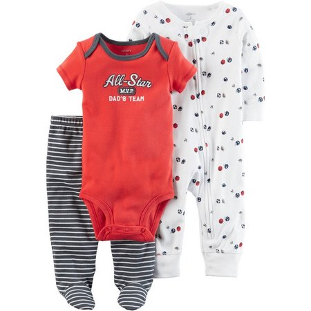 New! Carters Baby Boys 3-pc. All-Star MVP Layette