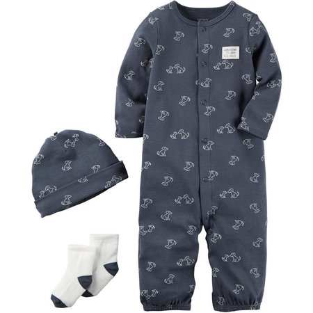 New! Carters Baby Boys 3-pc. Handsome Fella Layette