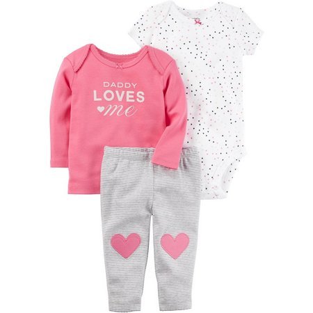 Carters Baby Girls 3-pc. Daddy Love Layette Set