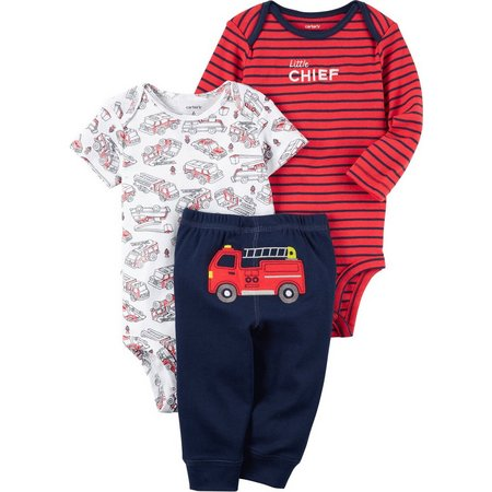 Carters Baby Boys 3-pc. Little Chief Bodysuit Set