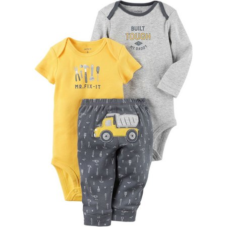 New! Carters Baby Boys 3-pc. Mr. Fix It