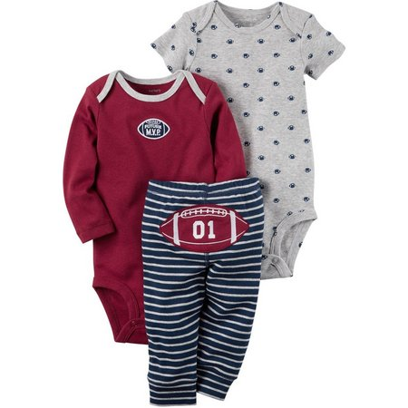 New! Carters Baby Boys 3-pc. Football MVP Layette