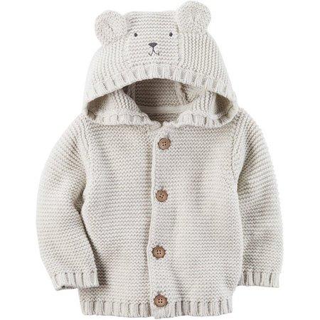 Carters Baby Boys Hooded Bear Sweater