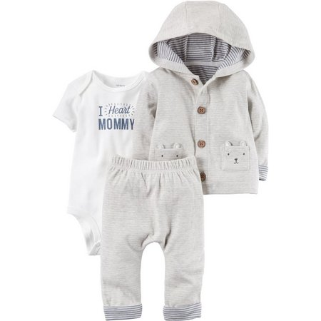 Carters Baby Boys 3-pc. I Heart Mommy Layette