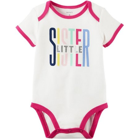 Carters Baby Girls Little Sis Collectible Bodysuit