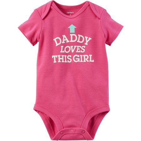 Carters Baby Girls Daddy Loves This Girl Bodysuit