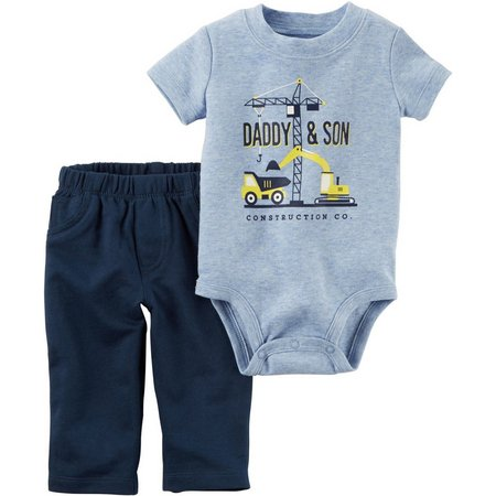 Carters Baby Boys Daddy & Son Pants Set