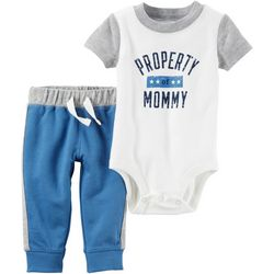 Carters Baby Boys Property of Mommy Pants Set