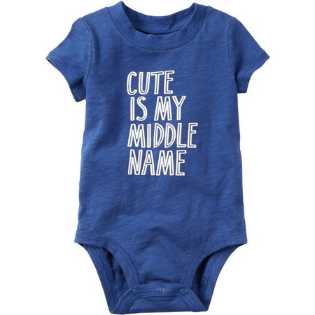 Carters Baby Boys Cute Is My Middle Name
