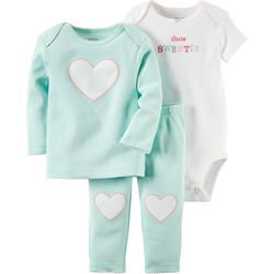 Carters Baby Girls Hello Cutie 3-pc. Lil Pants
