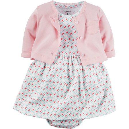 Carters Baby Girls Hello Cutie Bodysuit Dress