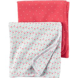 Carters Baby Girls Hello Cutie Swaddle Blankets