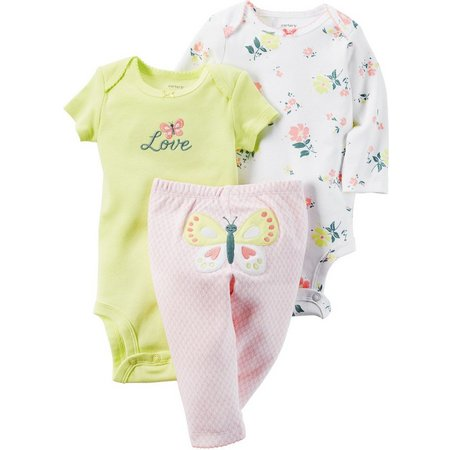 Carters Baby Girls Little Blooms 3-pc. Layette Set