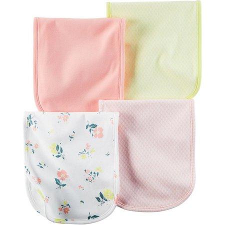 Carters Baby Girls Little Blooms 4-pk. Burp Cloths