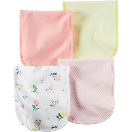 Carters Baby Girls 4-pk. Little Blooms Burp Cloths