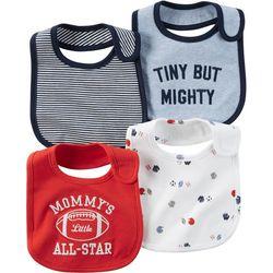 Carters Baby Boys Little All-Star 4-pk. Bibs