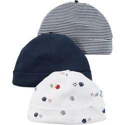Carters Baby Boys Little All-Star 3-pk. Hats