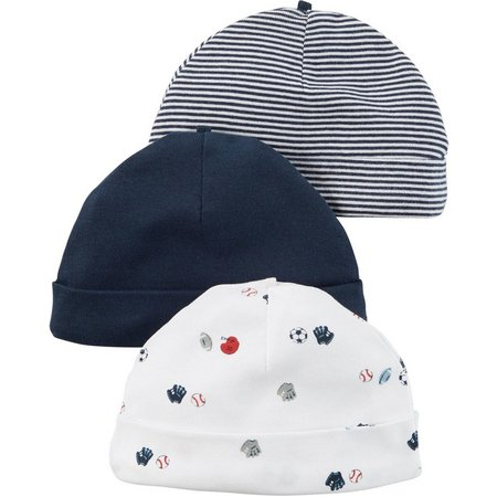 Carters Baby Boys 3-pk. Little All-Star Hats