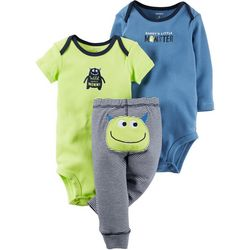 Carters Baby Boys 3-pc. Lil' Monster Layette Set