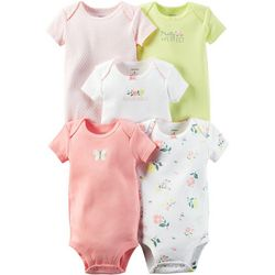 Carters Baby Girls Little Blooms 5-pk. Bodysuits
