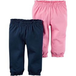 Carters Baby Girls 2-pk. Pull-On Pants