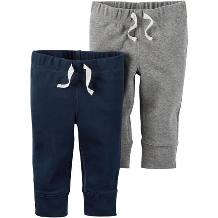 Carters Baby Boys 2-pk. Solid & Heather Pants