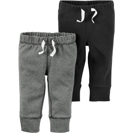 Carters Baby Boys 2-pk. Pull-On Ribbed Pants