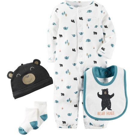 Carters Baby Boys Little 4-pc. Wild One Pants