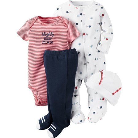 Carters Baby Boys 4-pc. Little All-Stars Pants Set