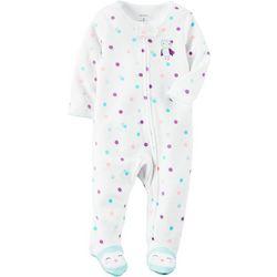 Carters Baby Girls Polka Dot Owl Sleep &