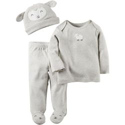 Carters Baby Unisex 3-pc. Sheep Layette Set